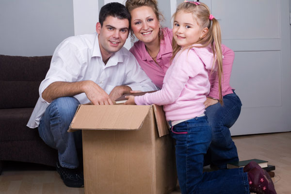 Family with Boxes - Request a Quote